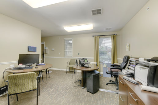 office space with desks and chairs