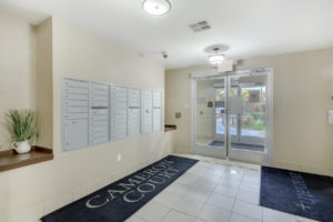 lobby area with mailboxes