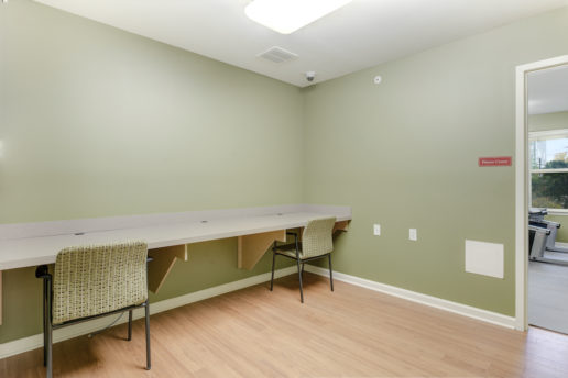 office room with desks and chairs