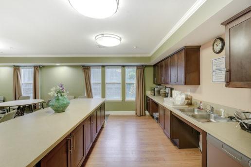 community kitchen area